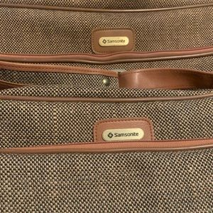 Samsonite 2pc VINTAGE 80's luggage set